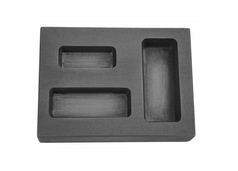 1/4 1/2 1 Oz SILVER Graphite Ingot Bar Combo Mold Melting Casting Refining Scrap