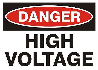 Danger High Voltage Decal 5 X 3.5 Osha Standard