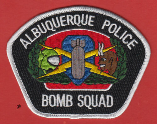 ALBUQUERQUE NEW MEXICO POLICE BOMB SQUAD SHOULDER PATCH (new style).