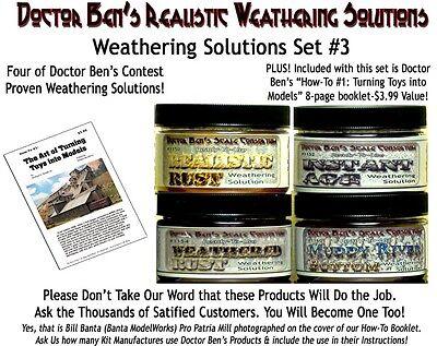 (Weathering Solution SET #3.Booklet Doctor Ben's Craftsman PLASTIC.RESIN. obt01x)