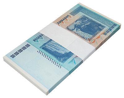Zimbabwe 100 Trillion Dollars X 50 Pieces (PCS), AA/2008, P-91, UNC, Half Bundle