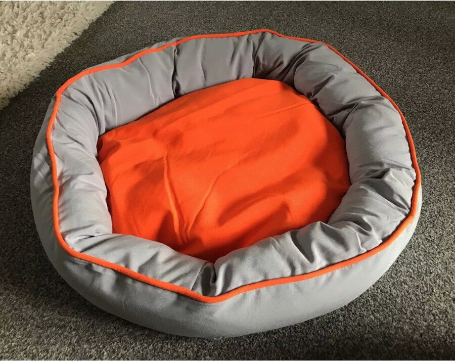 Oval Dog Bed With Removable Reversible