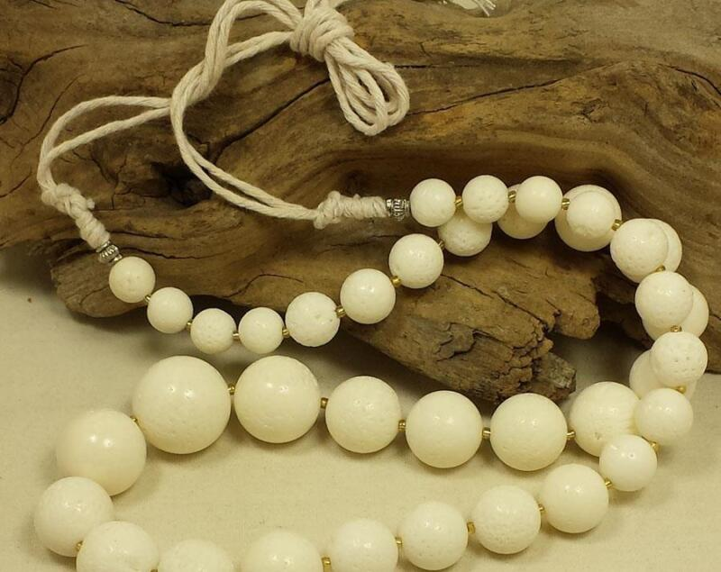 """gorgeous natural white sea coral necklace18""""-25""""/ /(y120a-w3)"""