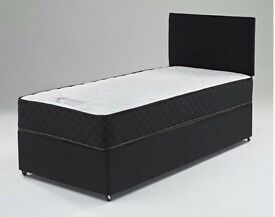"""""""""MEMORY FOAM BED"""""""" BRAND NEW SINGLE DIVAN BED WITH MEMORY FOAM ORTHOPEDIC MATTRESS --"