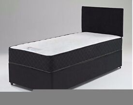 BRAND NEW SINGLE DIVAN BED BASE OR WITH DEEP QUILTED MATTRESS**WE DO DOUBLE BED & KING SIZE