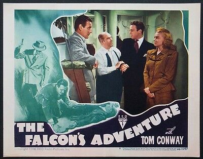 THE FALCON'S ADVENTURE TOM CONWAY STEVE BRODIE 1946 LOBBY CARD #8