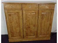 Large Solid Pine Sideboard Cupboard Drawers Dresser - RRP: £249.99