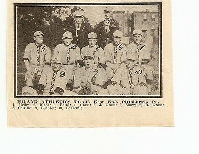 Hiland Athletics East End Pittsburgh Pa 1913 Baseball Team Picture Rare
