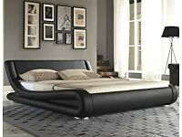 Double bed - Designer Italian WITH memory foam mattress