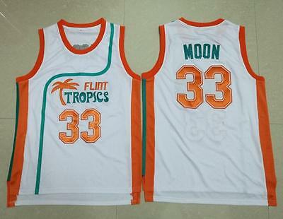 Semi Pro Flint Tropics Movie #33 MOON Basketball Jersey Stitched