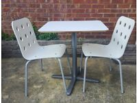 IKEA small dining table and 2 chairs