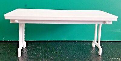 RC 1/10 Scale White Folding Table Picnic Rock Crawler Truck Garage Accessories ()