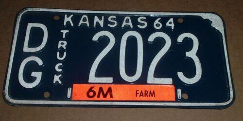 1964 Kansas License Plate DG-2023 Douglas County Truck Tag
