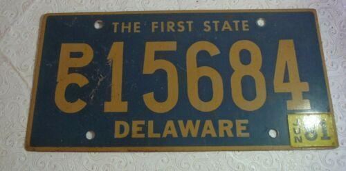 1981 Deleware License PlatePC 15684