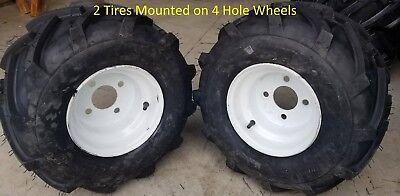 2 - 18x9.50-8 2P Tires 4 Hole Wheels MOUNTED ASSEMBLIES Golf