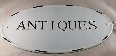 Tin metal ANTIQUES sign