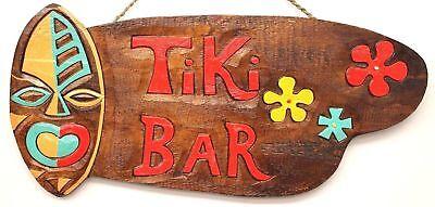 Hawaii Tiki Schild Bar Wandbrett 50 cm x 20 cm Südsee Bali Partykeller Surfbrett (Tiki Bar Dekoration Party)