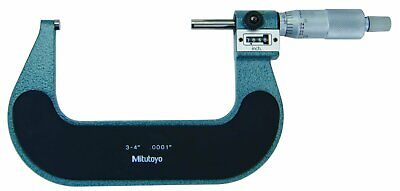Mitutoyo 193-214 Digital Outside Micrometer 3-4 Range .0001 Graduation