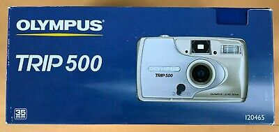 OLYMPUS TRIP 500 35mm Film Camera 28mm Lens with Case - Point and Shoot IN BOX!