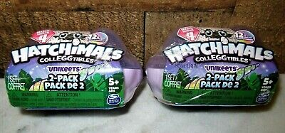 LOT OF 2 HATCHIMALS COLLEGGTIBLES UNIKEETS 2 PACKS~SEASON 4~FOR AGES 5+~NEW