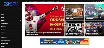 Esports Automated Wordpress News Website - Turnkey Profitable E-gaming Site