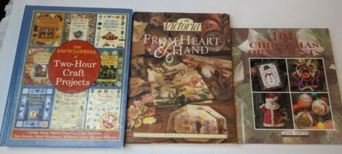 Mixed Craft Books Lot of 3 - 2-Hour Encyclopedia, Victoria, Christmas Ornaments