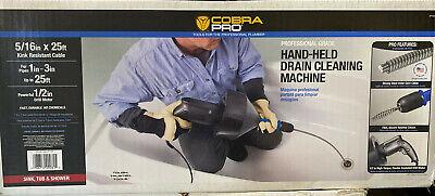 Cobra Pro - 516 X 25 Hand-held Drain Cleaning Machine 1 To 3 Pipe - Cp1020