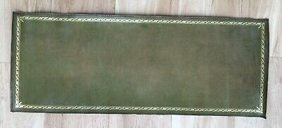 ANTIQUE GREEN REPLACEMENT LEATHER INSERT GOLD TOOLING