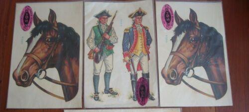 3 Decals Vintage Meyercord Horse 1503-A Minutemen 1504-A