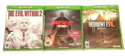 (HORROR BUNDLE) EVIL WITHIN 2/FRIDAY THE 13TH/RESIDENT EVIL VII FOR XBOX ONE X1 (Friday The 13th Game Xbox One X)