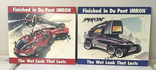 LOT of 2 Du Pont IMRON Paint Advertisement Advertising The Wet Look That Lasts
