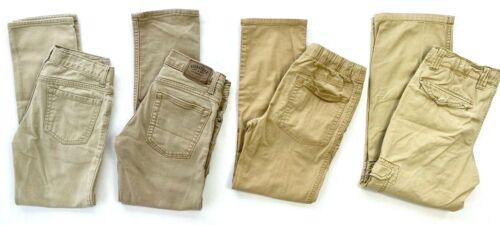 Lot of 4 Boys Uniform Pants sz12 Khaki color Arizona/Cat&Jack/Levi/OldNavy EUC!
