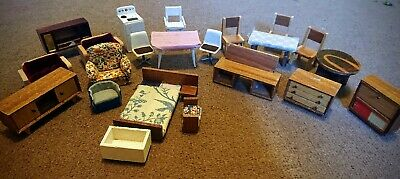 Vintage Dolls House Furniture 1970s Job Lot Bundle