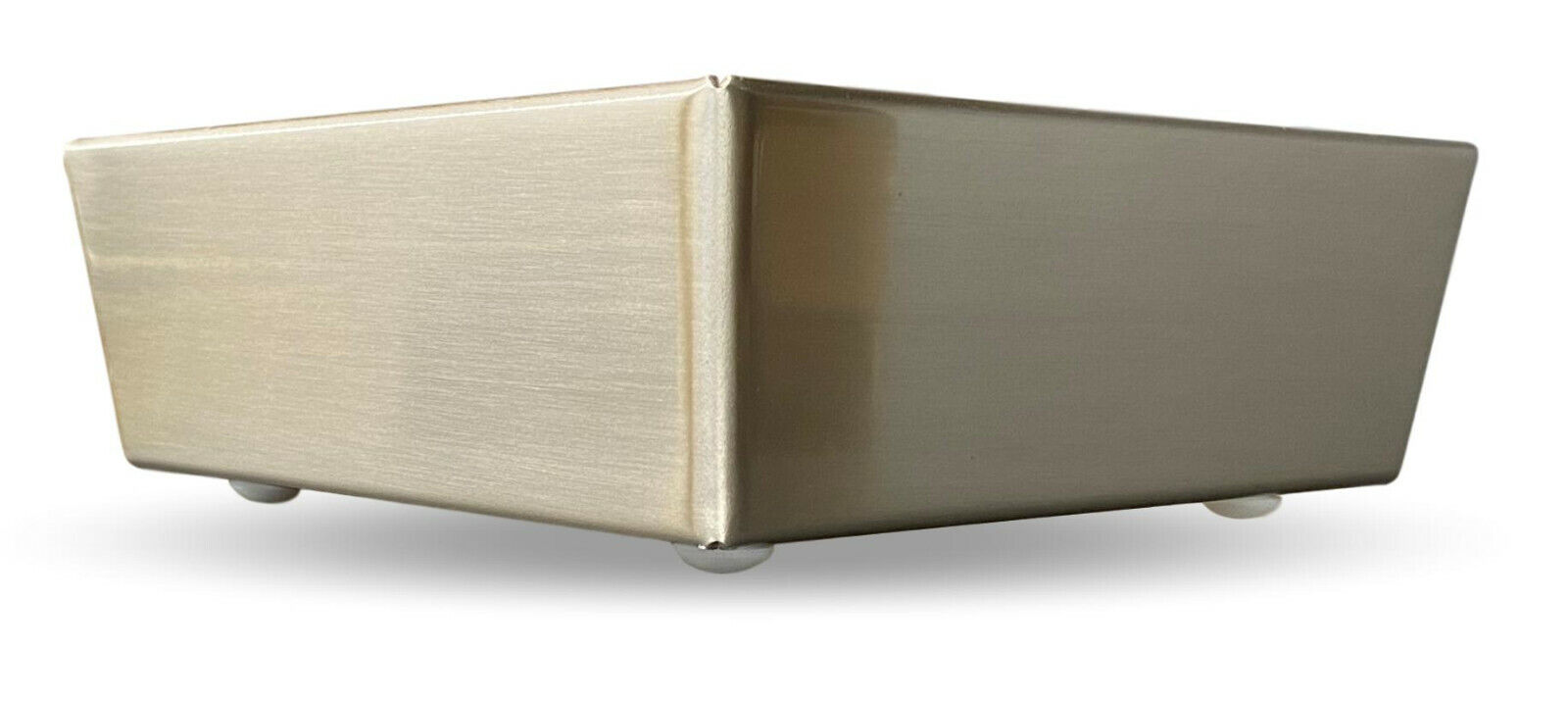 2-1/2″ Polished Brushed Nickel Metal Triangle Corner Furniture Legs – Set of 4 Furniture