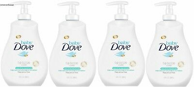 4 Baby Dove Wash Moisture Fragrance Tip to Toe Soap Sensitive Tear Free Pump