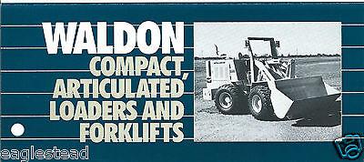 Fork Lift Truck Brochure Waldon 8500b Et Al Product Line Overview Loader Lt260