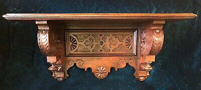 Large & Superb Hand Carved Renaissance Revival Victorian Clock Wall Shelf c.1870