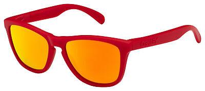 Oakley Frogskins Sunglasses OO9013-92 Matte Red | Fire Iridium (Red Sunglasses Lenses)