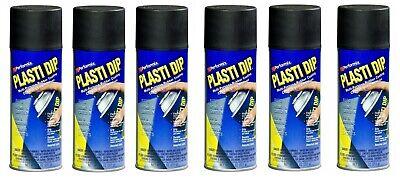 6 Plasti Dip Black Matte Liquid Wrap Removable Rubber Coating Aerosol Can