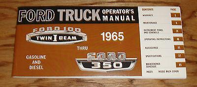 1965 Ford Truck F-100 - F-350 Gasoline & Diesel Owners Operators Manual 65, usado comprar usado  Enviando para Brazil