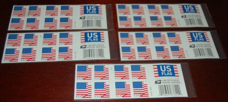 USPS US Flag Forever Stamps - 5 books of 20 Pieces, total 100 stamps