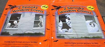 Halloween Decor party pkg of 2 Window Covers posters - 2 designs to choose from