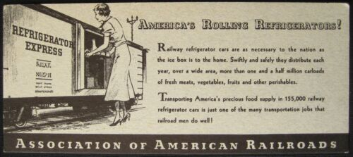 Refrigerator Express Blotter Advertisement, Association of American Railroads