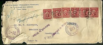 1908 Cover Registered Letter From New York City To Brooklyn N Y  Gramercy Co