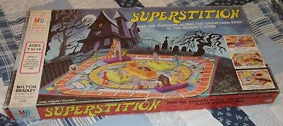 superstition vintage 1977 board game horror toys graveyard wizard monsters rare