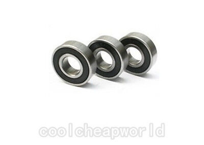 10pcs 626-2rs 626 Rs 6x19x6mm Rubber Sealed Ball Bearing Miniature Bearing