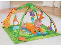 Fisher Price Rainforest friends deluxe bouncer and play gym mat