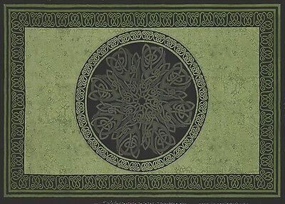 Handmade Celtic Wheel Circle Tie Dye Tapestry Tablecloth Spread Full 88x104 - Tie Dye Tablecloth