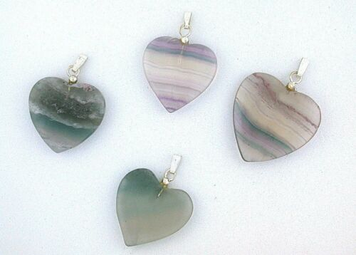 One 1 To 1 1/3 Inch Natural Fluorite Crystal Gemstone Gem Pendant  EBS7611FH