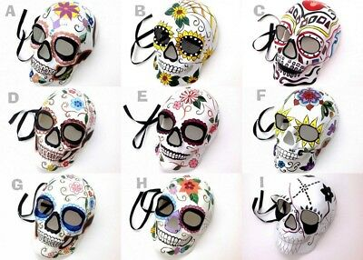 D? de Muertos Masquerade Mask Day of the Dead Sugar Skull Make up Costume Party - Making Of Halloween Masks